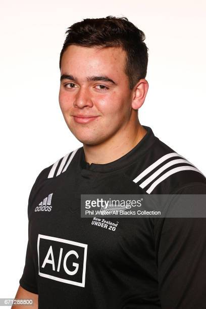 Robb Cobb poses during the New Zealand U20 Headshots Session at Novotel Auckland Airport on April 22 2017 in Auckland New Zealand