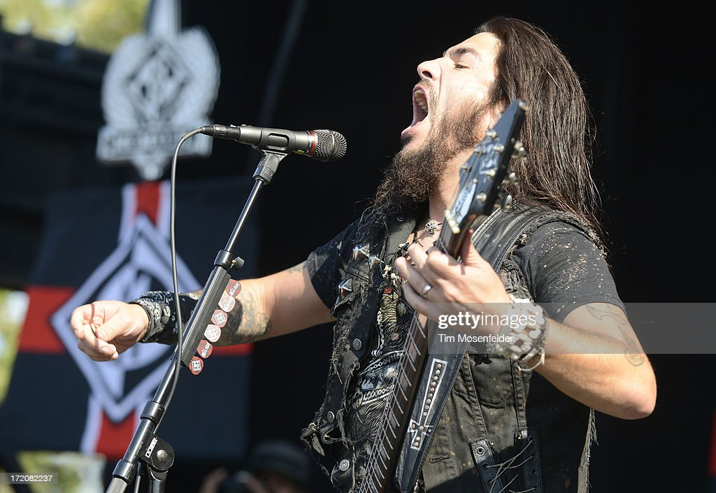 Robb Flynn of Machine Head performs as part of the Rockstar Energy Drink Mayhem Festival at Shoreline Amphitheatre on June 30, 2013 in Mountain View, California.