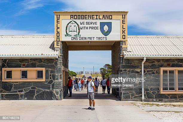 Robben Island welcome sign and gateway