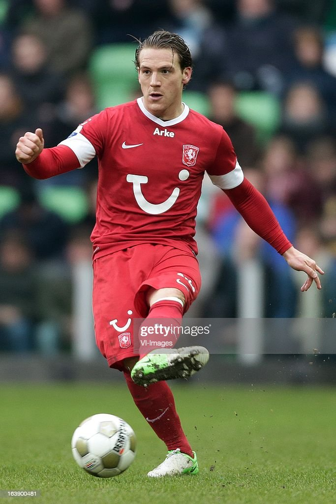Robbert Schilder of FC Twente during the Dutch Eredivisie match between FC Groningen and FC Twente at the Euroborg Stadium on march 17, 2013 in Groningen, The Netherlands