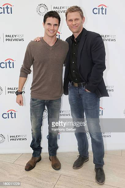 Robbie Amell and Mark Pellegrino attend The Paley Center for Media's 2013 PaleyFest Fall TV Preview Party for The CW's 'The Tomorrow People' at The...