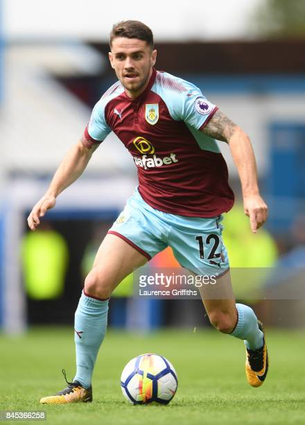 Robbie Brady of Burley in action during the Premier League match between Burnley and Crystal Palace at Turf Moor on September 10 2017 in Burnley...
