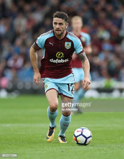 Robbie Brady of Burnley controls the ball during the Premier League match between Burnley and Huddersfield Town at Turf Moor on September 23 2017 in...