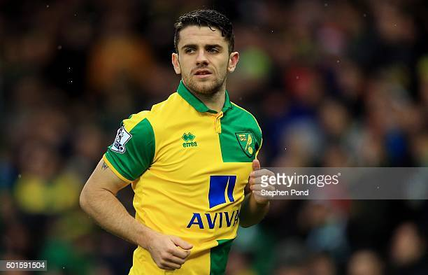 Robbie Brady of Norwich City during the Premier League match between Norwich City and Everton at Carrow Road stadium on December 12 2015 in Norwich...