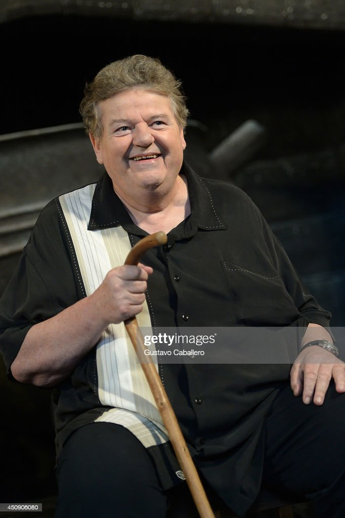 <a gi-track='captionPersonalityLinkClicked' href=/galleries/search?phrase=Robbie+Coltrane&family=editorial&specificpeople=644111 ng-click='$event.stopPropagation()'>Robbie Coltrane</a> is interviewed at The Wizarding World Of Harry Potter Diagon Alley at Universal Orlando on June 19, 2014 in Orlando, Florida.