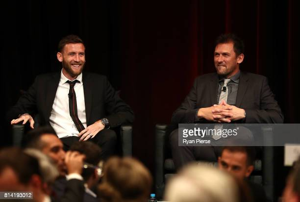 Robbie Cornthwaite of the Wanderers and Tony Popovic coach of the Wanderers speak after Cornthwaite was announced as the new Captain of the Wanderers...