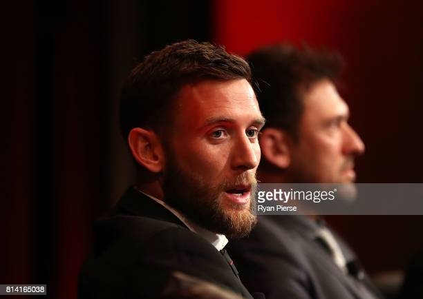 Robbie Cornthwaite of the Wanderers looks on after being announced as the new Captain of the Wanderers at the Western Sydney Wanderers Gold Star...