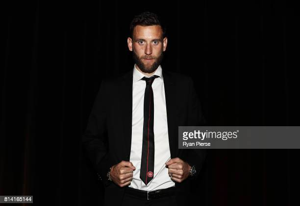 Robbie Cornthwaite of the Wanderers poses after being announced as the new Captain of the Wanderers at the Western Sydney Wanderers Gold Star...