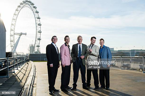 Robbie Durham Ross William Wild Martin Kemp Matt Wycliffe and Martin Kaye attend the photocall for 'Million Dollar Quartet' at the Royal Festival...