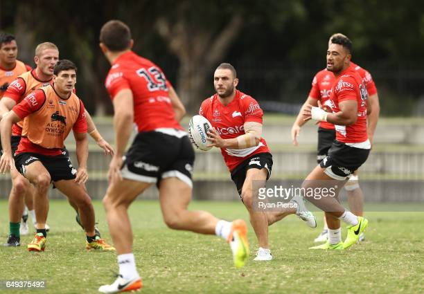 Robbie Farah of Souths trains during a South Sydney Rabbitohs NRL training session at Redfern Oval on March 8 2017 in Sydney Australia