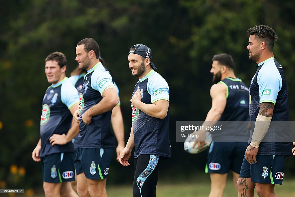Robbie Farah of the Blues looks on during a New South Wales State of Origin media opportunity on May 26, 2016 in Coffs Harbour, Australia.