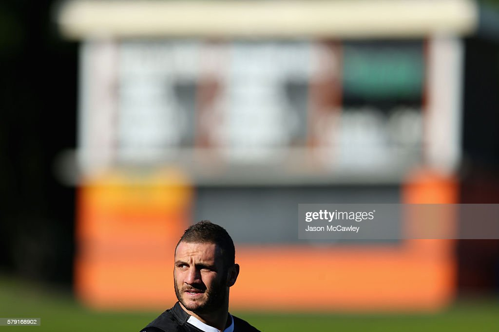 Robbie Farah of the WestsTigers watches on before the round 19 Intrust Super Premiership NSW match between the Wests Tigers and the Newtown Jets at Leichhardt Oval on July 23, 2016 in Sydney, Australia.