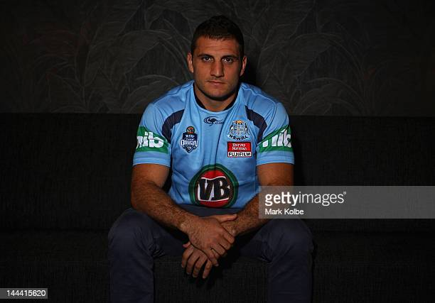 Robbie Farah poses during a New South Wales Blues Origin media session at Penrith Panthers on May 14 2012 in Sydney Australia