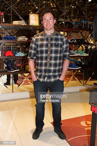 Robbie Fowler attends a photocall while signing the book Liverpool FC Heroes at the Moods of Norway store on April 4 2013 in Oslo Norway