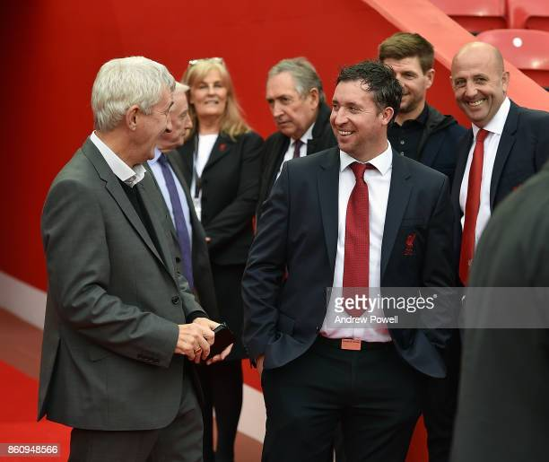 Robbie Fowler during the Kenny Dalglish Stand unveiling on October 13 2017 in Liverpool United Kingdom