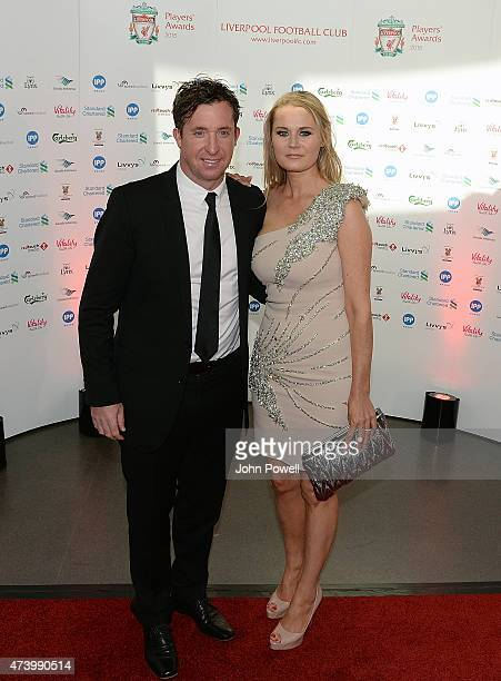 Robbie Fowler ex player of Liverpool arrives at the Liverpool Player of the Year Awards on May 19 2015 in Liverpool England