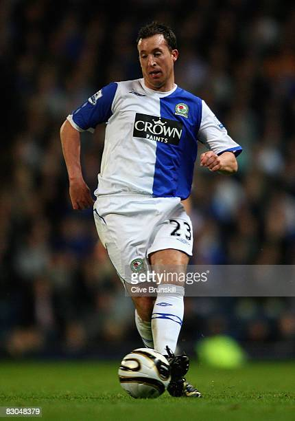 Robbie Fowler of Blackburn Rovers runs with the ball during the Carling Cup third round match between Blackburn Rovers and Everton at Ewood Park on...
