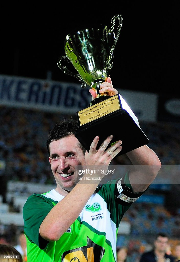 <a gi-track='captionPersonalityLinkClicked' href=/galleries/search?phrase=Robbie+Fowler&family=editorial&specificpeople=206154 ng-click='$event.stopPropagation()'>Robbie Fowler</a> of the Fury holds up the Queensland Nickel Cup after wining the round 27 A-League match between North Queensland Fury and Gold Coast United at Dairy Farmers Stadium on February 13, 2010 in Townsville, Australia.