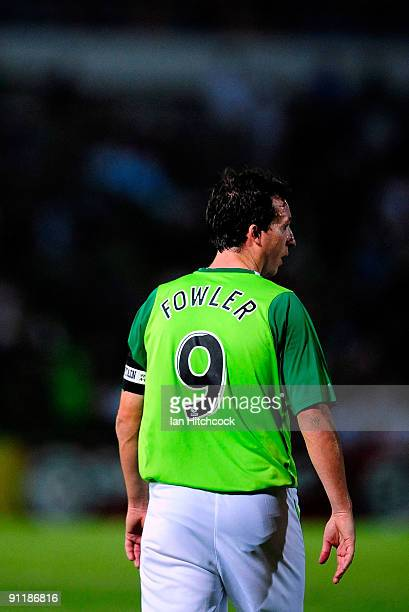 Robbie Fowler of the Fury looks on during the round eight ALeague match between the North Queensland Fury and Adelaide United at Dairy Farmers...