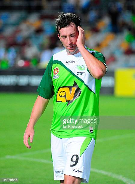 Robbie Fowler of the Fury walks of the field after losing the round 15 ALeague match between North Queensland Fury and the Central Coast Mariners at...
