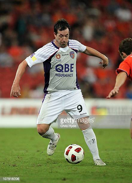 Robbie Fowler of the Glory during the round 22 ALeague match between the Brisbane Roar and the Perth Glory at Suncorp Stadium on January 7 2011 in...