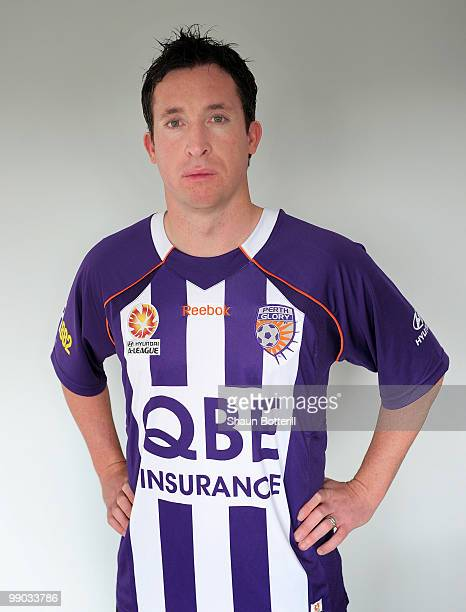 Robbie Fowler wears the Perth Glory shirt on May 7 2010 in Cardy England