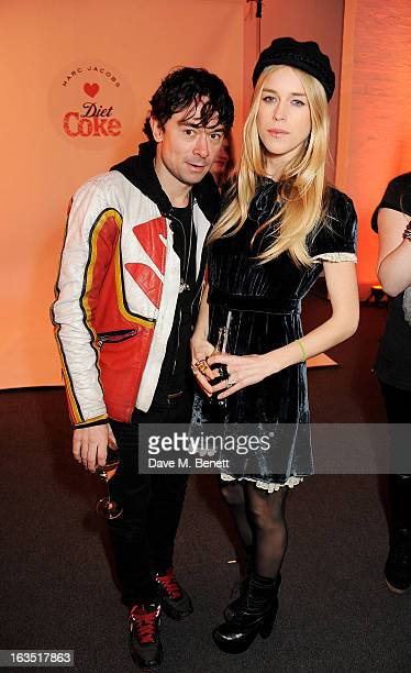 Robbie Furze and Mary Charteris attend a party celebrating 30 years of Diet Coke and announcing designer Marc Jacobs as Creative Director for Diet...