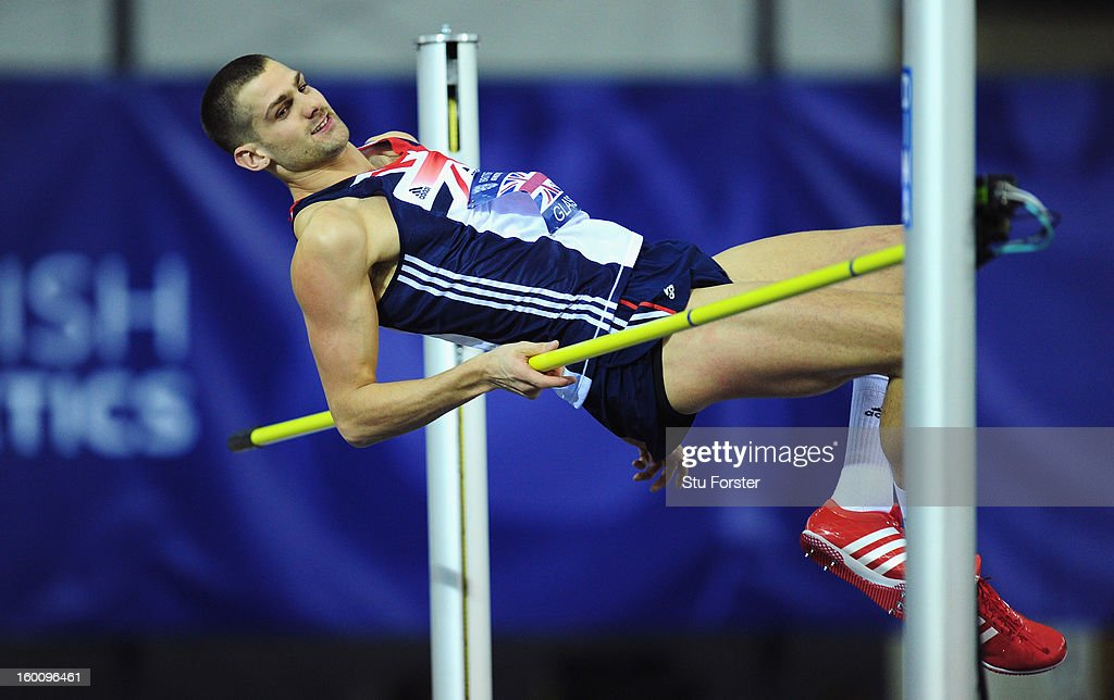 Robbie Grabarz of Great Britain in action during the Mens High Jump during the British Athletics International Match at the Emirates Arena on January 26, 2013 in Glasgow, Scotland.