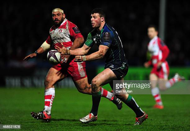 Robbie Henshaw of Connacht in action during the European Rugby Challenge Cup match between Gloucester and Connacht at Kingsholm Stadium on April 3...
