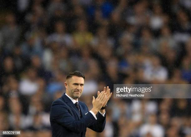 Robbie Keane ex Tottenham Hotspur player walks onto the pitch during the closing ceremony after the Premier League match between Tottenham Hotspur...