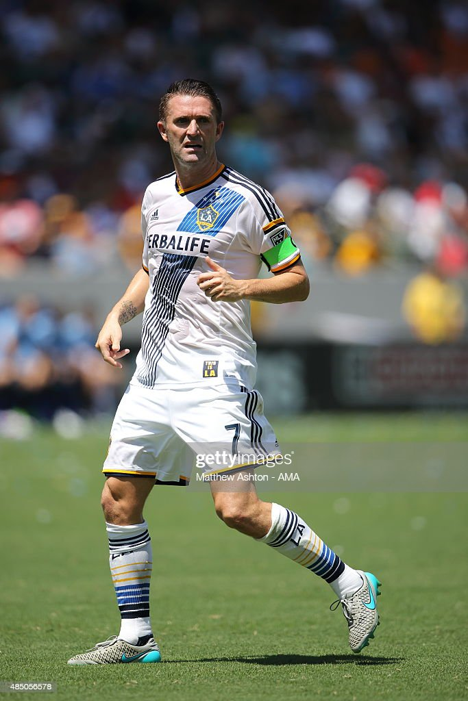 #7 Robbie Keane of LA Galaxy during the MLS match between Los Angeles Galaxy and New York City FC at StubHub Center on August 23, 2015 in Los Angeles, California.