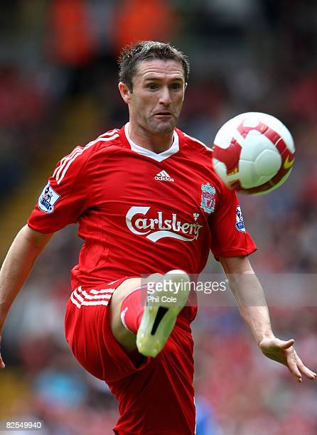 Robbie Keane of Liverpool during the Barclays Premier League match between Liverpool and Middlesbrough at Anfield on August 23 2008 in Liverpool...