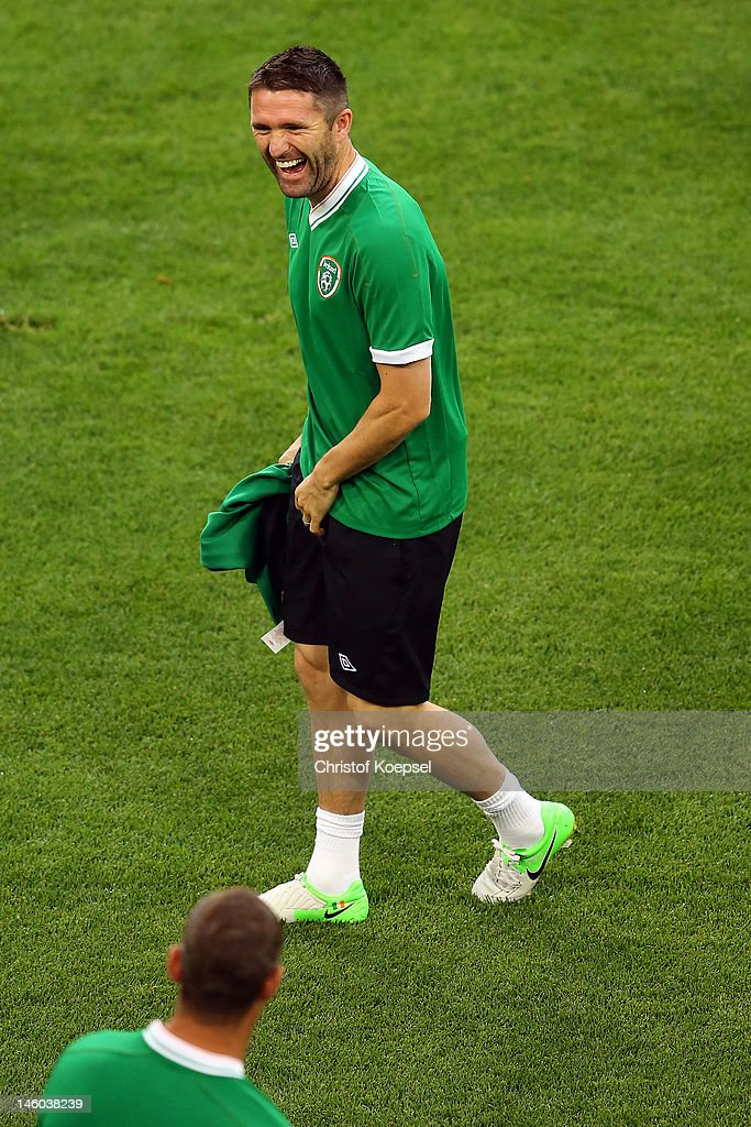 Republic of Ireland Training and Press Conference - Group C: UEFA EURO 2012