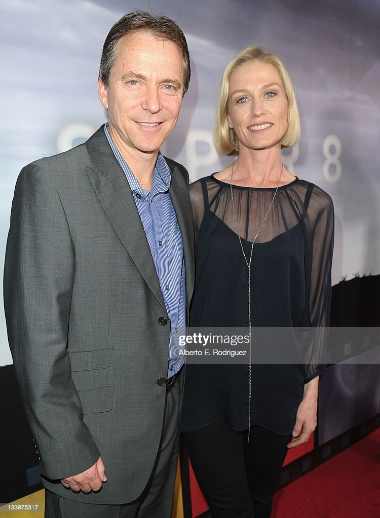 Robbie Koseff and actress Jessica Tuck arrive to Paramount Pictures' 'Super 8' Blu-ray and DVD release party at AMPAS Samuel Goldwyn Theater on November 22, 2011 in Beverly Hills, California.