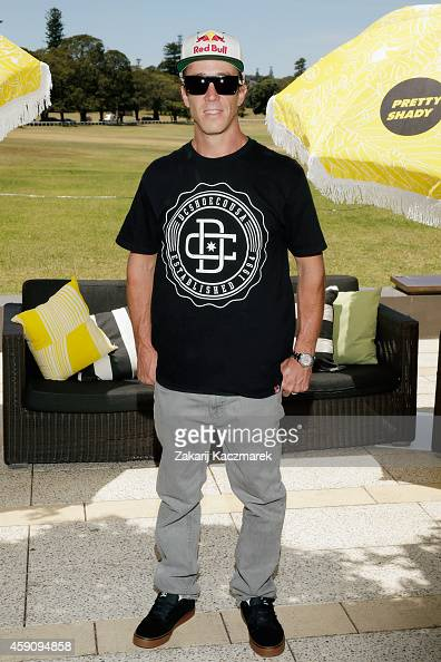 Robbie Maddison arrives at the Pretty Shady Launch at Centennial Park on November 17 2014 in Sydney Australia Pretty Shady aims to take a different...