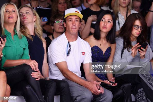 Robbie Maddison attends the Bec and Bridge show during MercedesBenz Fashion Week Australia Spring/Summer 2013/14 at Carriageworks on April 8 2013 in...