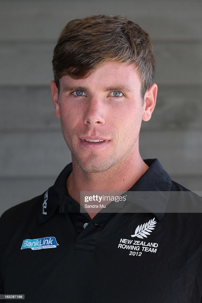 Robbie Manson poses before the New Zealand rowing squad announcement for 2013, at Lake Karapiro on March 7, 2013 in Cambridge, New Zealand.