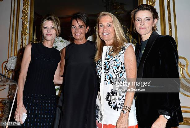 Robbie Myers Constance Benque Jane Hartley and FrancoiseMarie Santucci attend a cocktail party hosted by the US Ambassador to France and Monaco to...