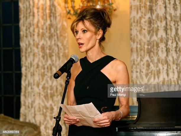 Robbie Myers makes some remarks at ELLE's annual Women in Washington Power List dinner hosted by Robbie Myers ELLE EditorinChief with Gucci at Villa...