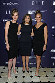 Robbie Myers Neera Tanden and Melissa Harris Perry attend a reception hosted by ELLE EditorinChief Robbie Myers and Center for American Progress...