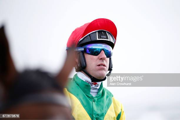Robbie Power riding Fox Norton before winning The Boylesports Champion Steeplechase at Punchestown racecourse on April 25 2017 in Naas Ireland