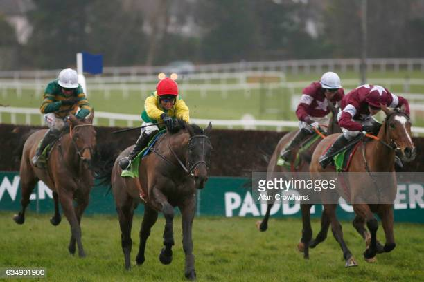 Robbie Power riding Sizing John clear the last to win The Stan James Irish Gold Cup at Leopardstown racecourse on February 12 2017 in Dublin Ireland *