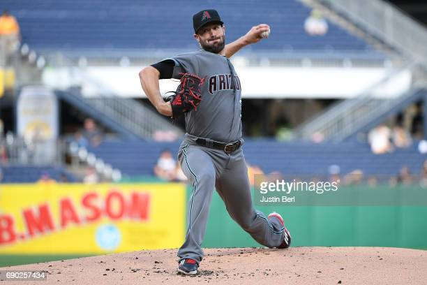 Robbie Ray of the Arizona Diamondbacks delivers a pitch in the first inning during the game against the Pittsburgh Pirates at PNC Park on May 30 2017...