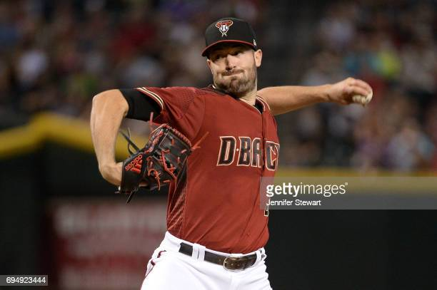 Robbie Ray of the Arizona Diamondbacks delivers a pitch in the first inning against the Milwaukee Brewers at Chase Field on June 11 2017 in Phoenix...