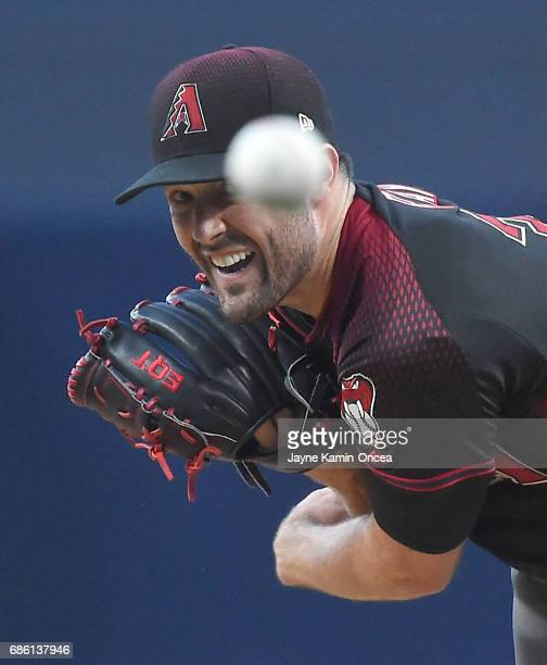 Robbie Ray of the Arizona Diamondbacks in the first inning of the game against the San Diego Padres at Petco Park on May 20 2017 in San Diego...