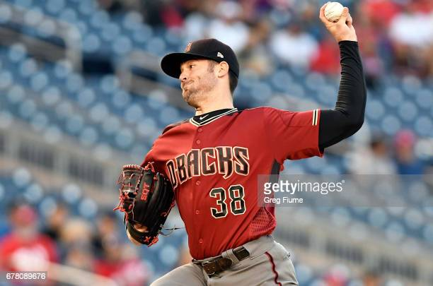 Robbie Ray of the Arizona Diamondbacks pitches in the first inning against the Washington Nationals at Nationals Park on May 3 2017 in Washington DC
