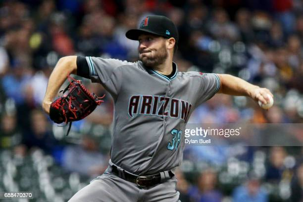 Robbie Ray of the Arizona Diamondbacks pitches in the first inning against the Milwaukee Brewers at Miller Park on May 25 2017 in Milwaukee Wisconsin