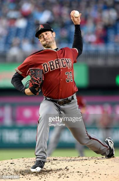 Robbie Ray of the Arizona Diamondbacks pitches in the second inning against the Washington Nationals at Nationals Park on May 3 2017 in Washington DC