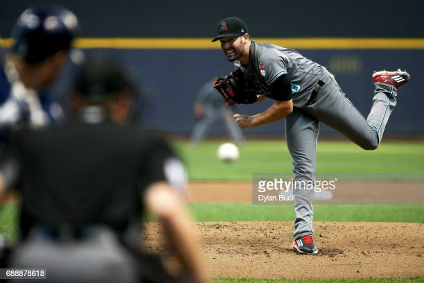 Robbie Ray of the Arizona Diamondbacks pitches in the second inning against the Milwaukee Brewers at Miller Park on May 25 2017 in Milwaukee Wisconsin