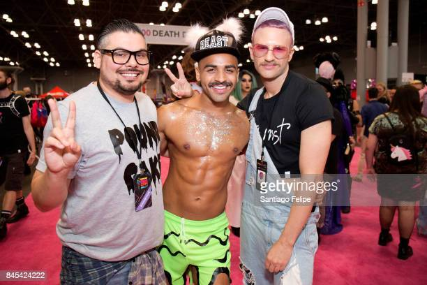 Robbie Richard Zach Parrish and Neil Marek attend RuPaul's DragCon NYC 2017 at The Jacob K Javits Convention Center on September 10 2017 in New York...